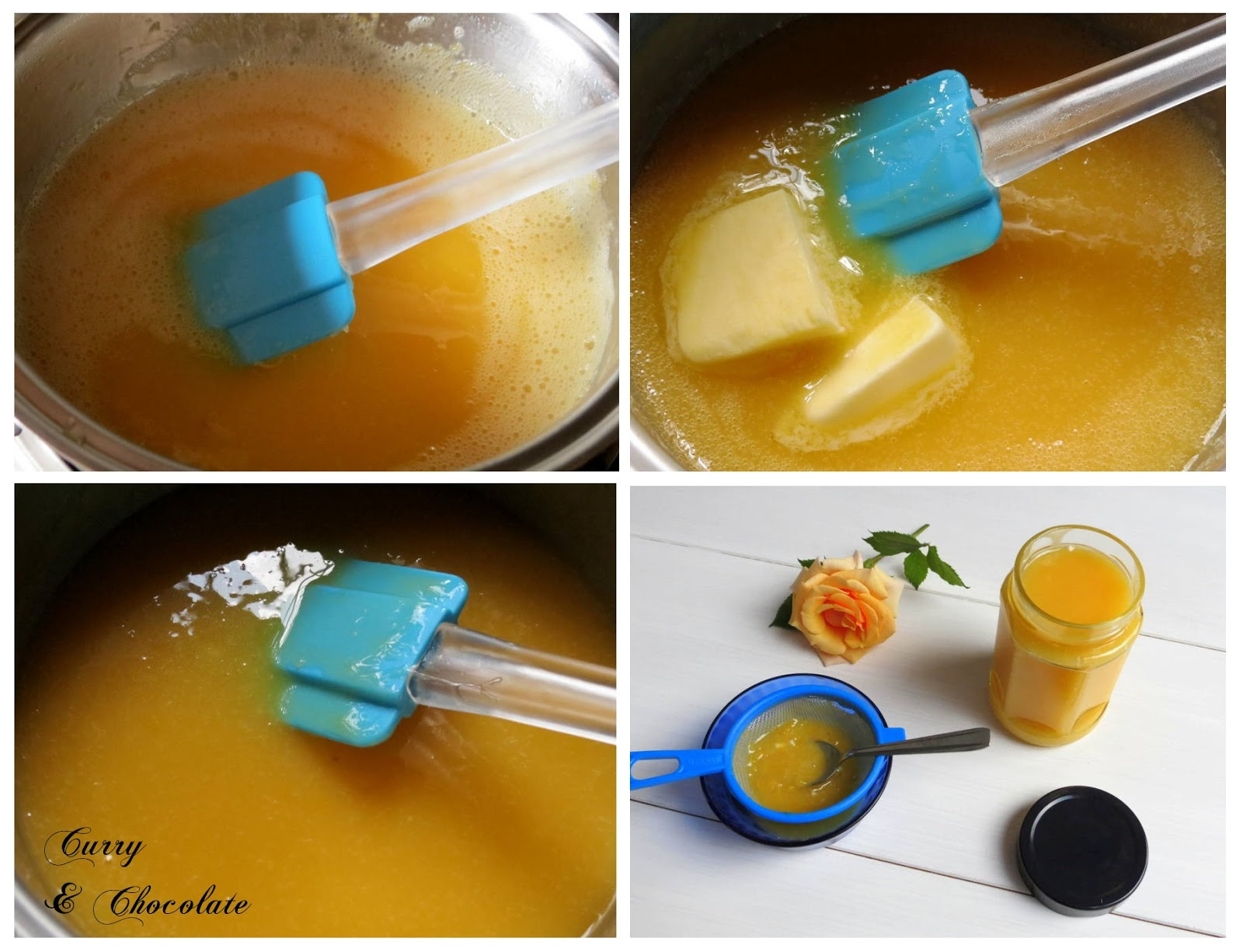 Lemon curd - preparación