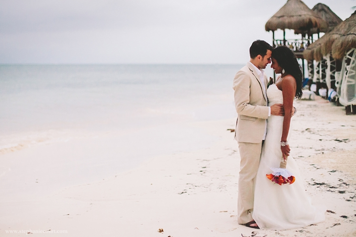 """bride and groom cancun destination wedding"""