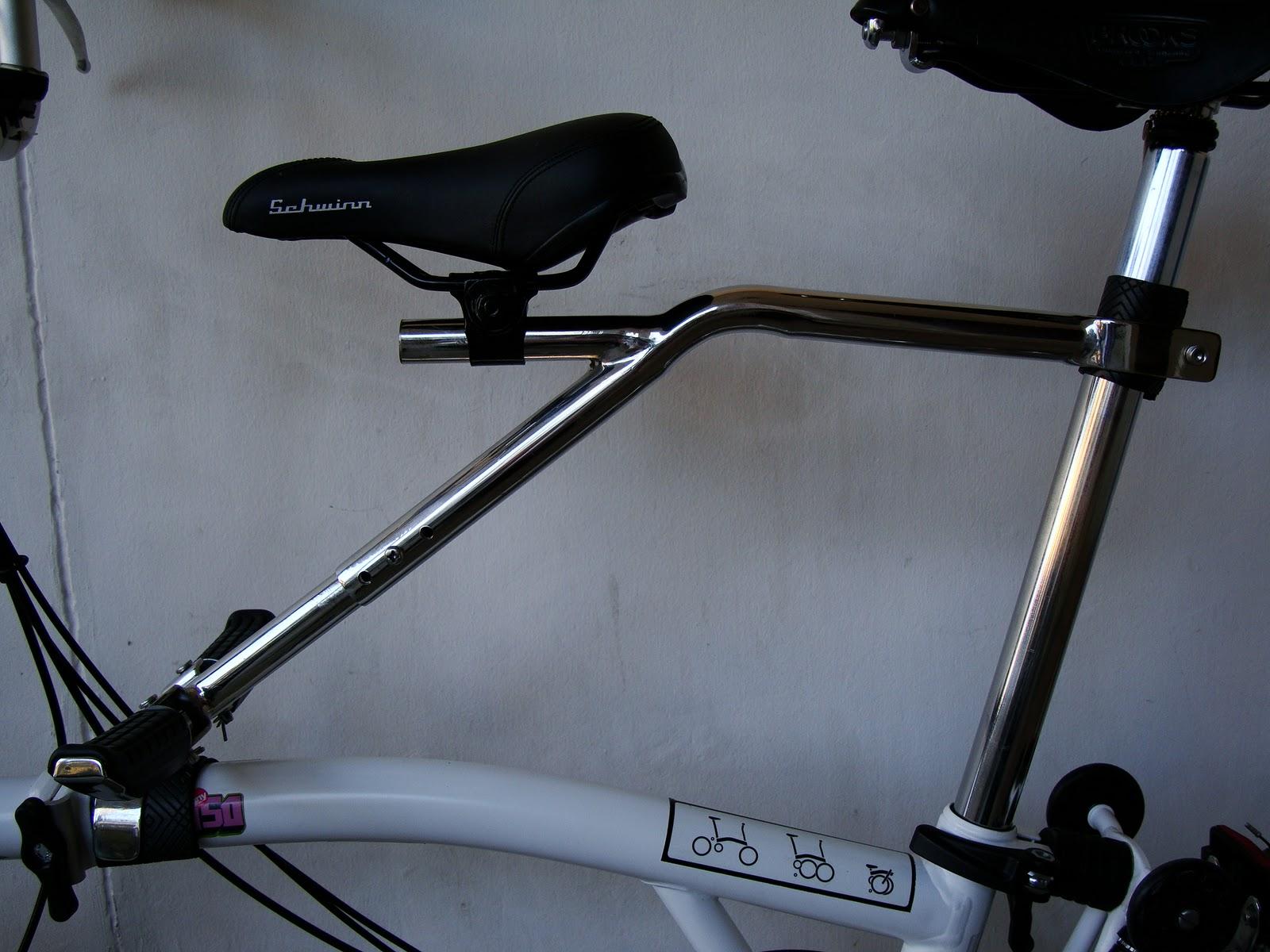 riding a folding bike around manila child bike seat for my brompton