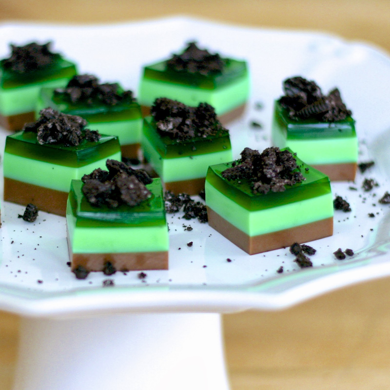 is for: Mint Chocolate {Thin Mint} Jelly Shots