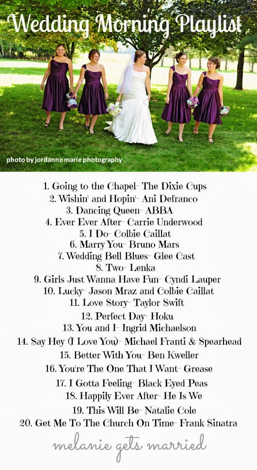 Making It In The Mitten Wedding Morning Playlist