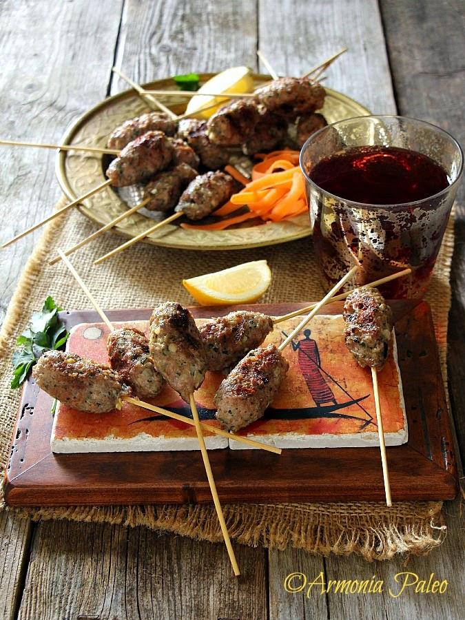 Lamb Kofta Kebabs - Polpette Egiziane di Agnello di Armonia Paleo