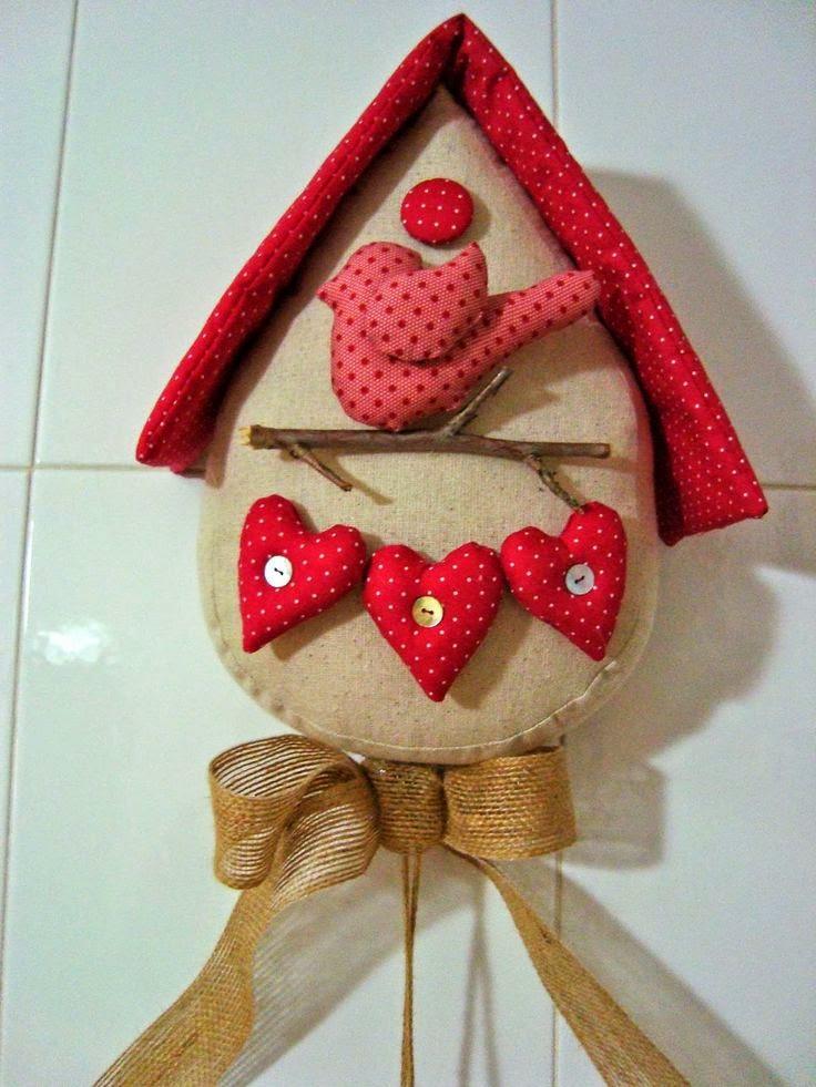 Feltromara casa de passarinho com moldes - Casas de patchwork ...