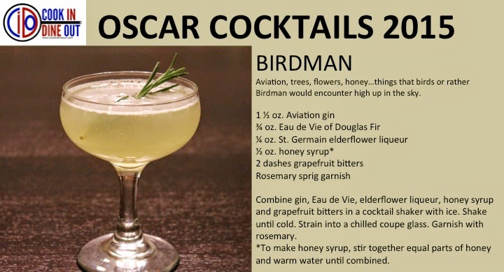 Cook In / Dine Out Oscar Cocktails 2015 Birdman