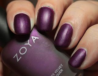 Zoya Matte Velvets for Winter 2015 - Iris