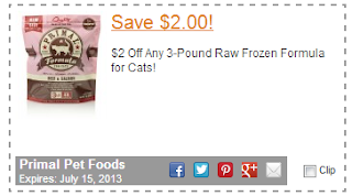 primal raw food for cats coupon