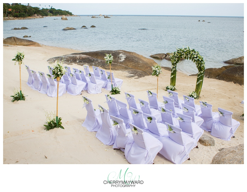 ceremony set up, Beach Republic wedding, Koh Samui, Thailand