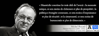 Citation de Michel Rocard pour le oui au traité de Maastricht