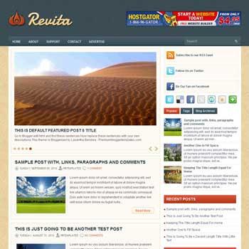Revita blog template. template image slider blog. magazine blogger template style