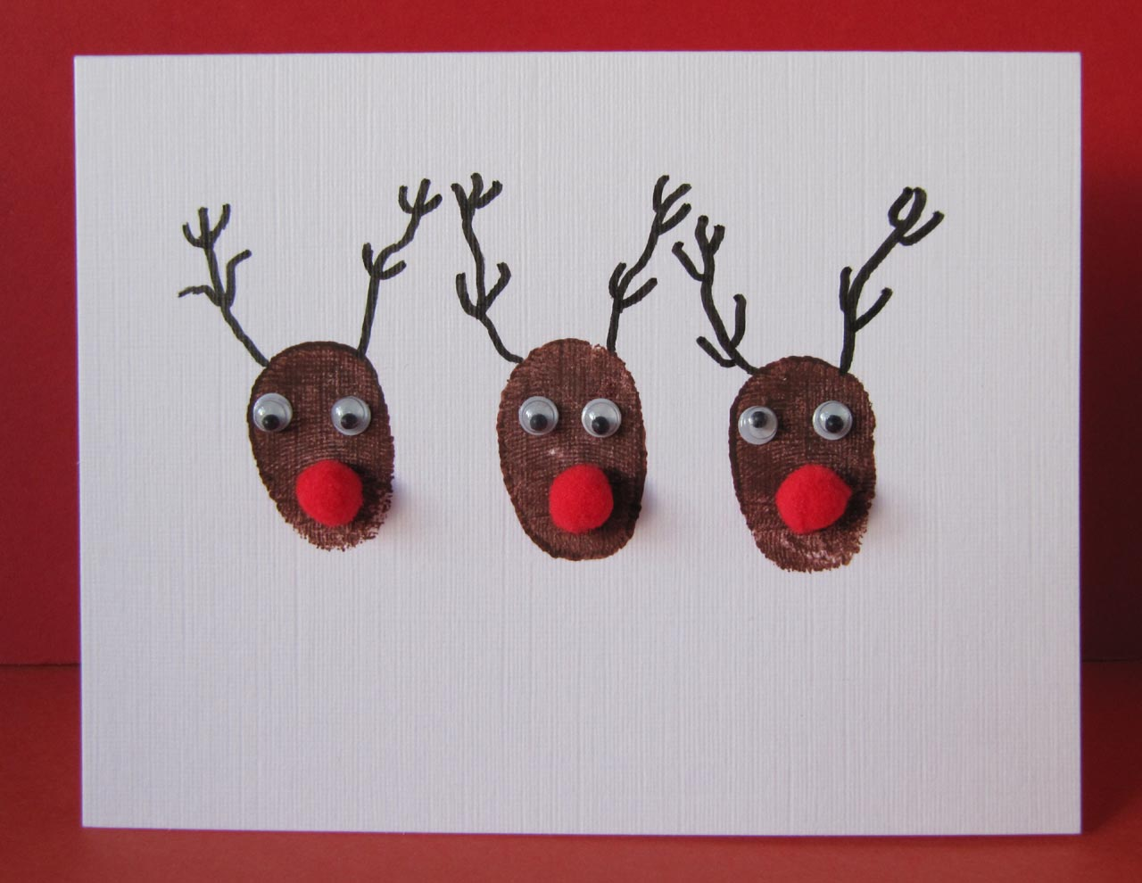 Textile Snippets: Fun printed Christmas Cards
