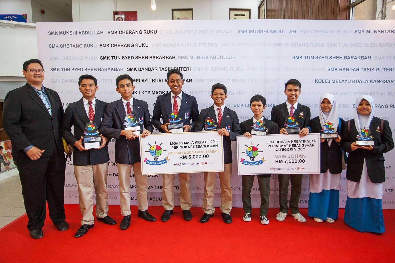 Pemenang Liga Remaja Kreatif 2014 : Kolej Yayasan Saad Melaka dan SMK Kuhara Sabah
