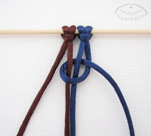 Podwójny węzeł łańcuszkowy wykonywany na 4 sznurkach - 2