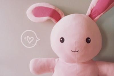 coelho, fofo, rosa, coração, fofura, pelúcia