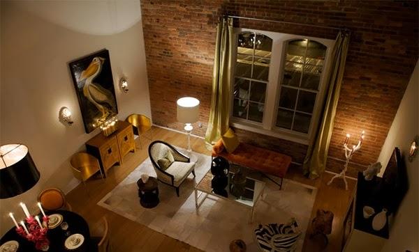 D coration salon avec des murs en briques d coration salon d cor de salon - Deco mur brique salon ...