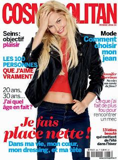 Magazine Cover : Jennifer Morrison Magazine Photoshoot Pics on Cosmopolitan Magazine France February 2014 Issue