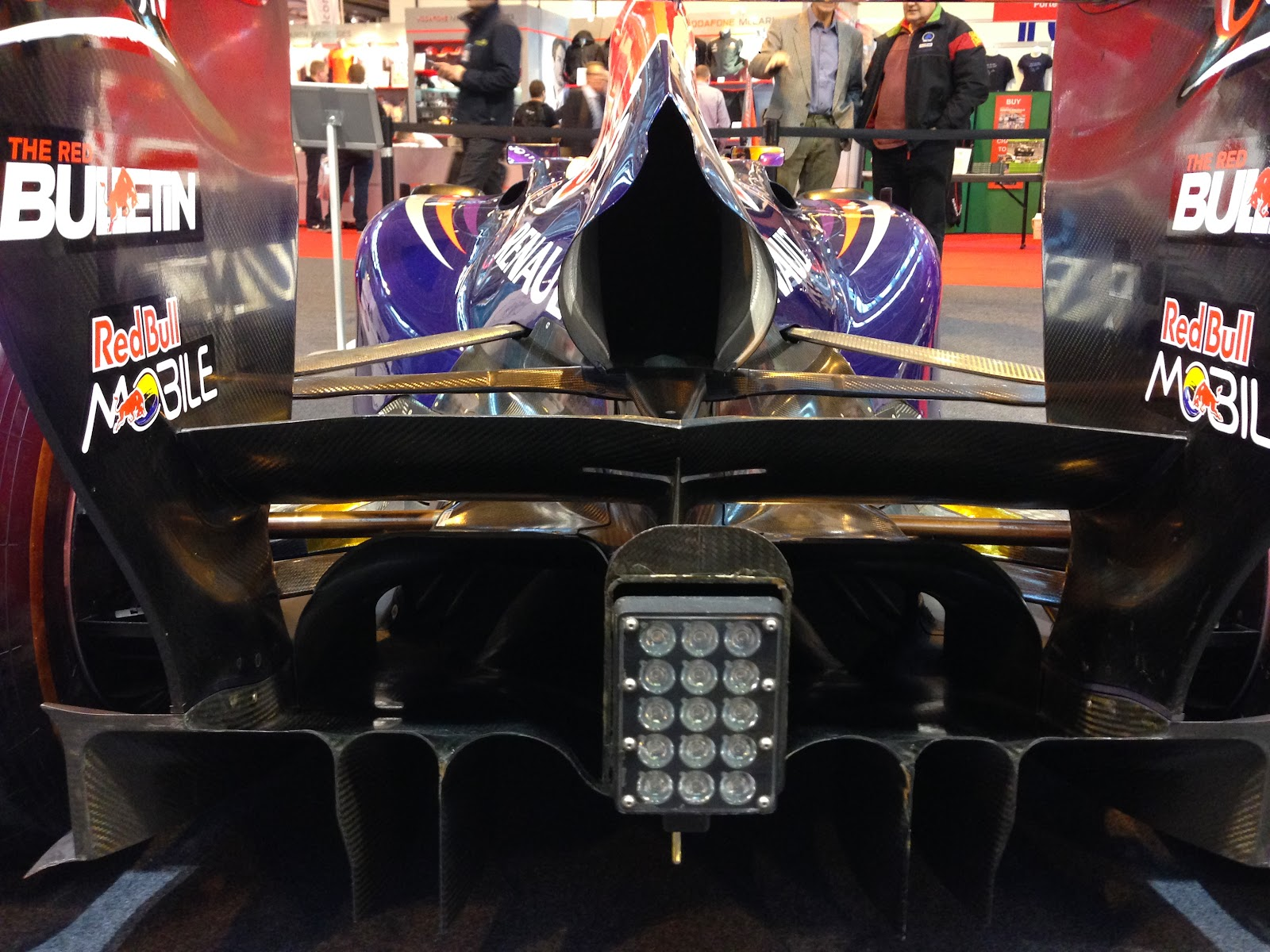 Red Bull F1 car rear end