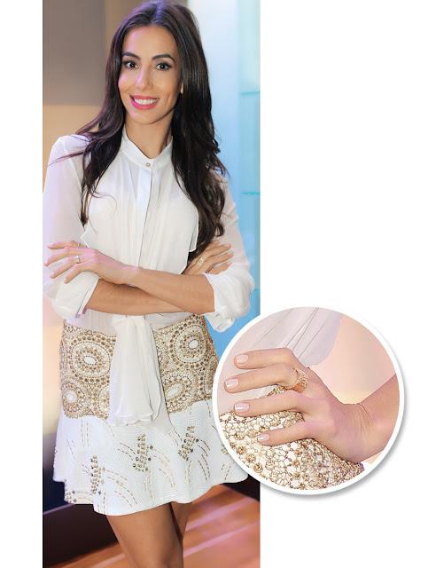 Nova moda unhas decoradas brancas