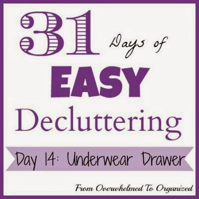 Day 14: Underwear Drawer {31 Days of Easy Decluttering} | fromoverwhelmedtoorganized.blogspot.com