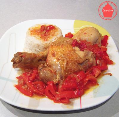poulet basquaise poivrons riz
