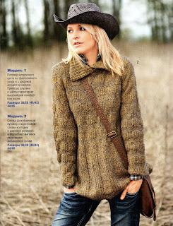 На фото: Вязание свитера спицами для женщин с.
