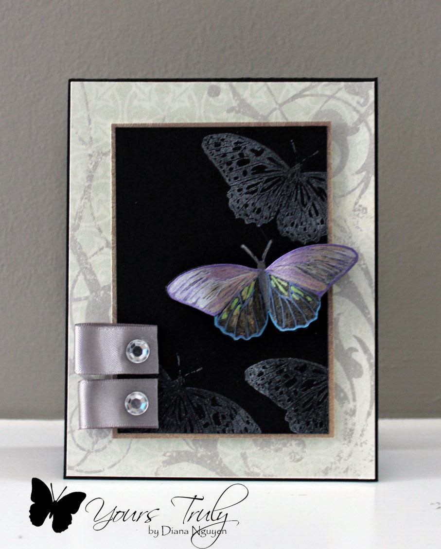 Diana Nguyen. butterfly, card