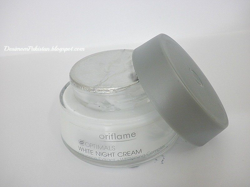 ORIFLAME  OPTIMALS WHITE NIGHT CREAM: