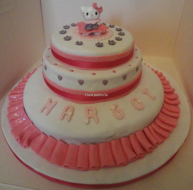torta con topper hello kitty
