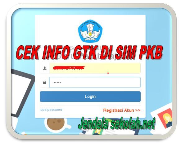 Cek Info GTk Terbaru Semester 1 2017/2018