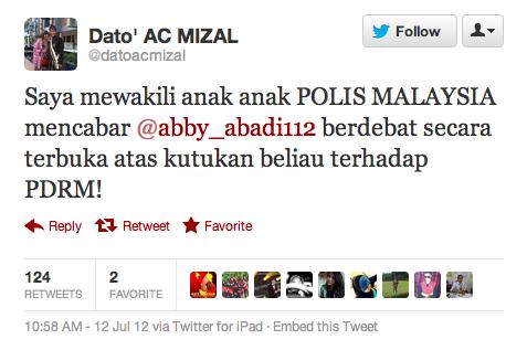 AC Mizal Cabar Abby Abadi Berdebat Isu POLIS