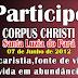 Adesivo comemorativo de Corpus Christi 2012