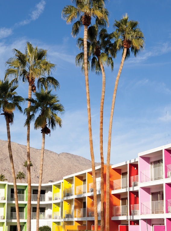 Rainbow of the week saguaro hotel in palm springs and for Design hotel palm springs