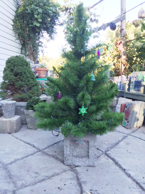 hypertufa pots make excellent containers for winter plantings and outdoor holiday arrangements they also make great holders for christmas trees that will - Christmas Tree Containers