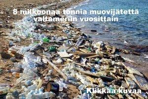 Muovijätettä valtameriin