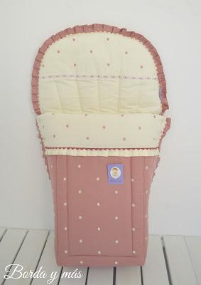 saco rosa y beige para Bugaboo Camaleon 3