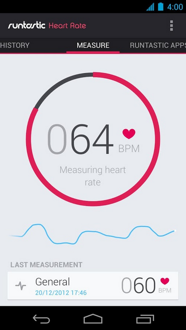 Runtastic Heart Rate_Android Health and Fitness app