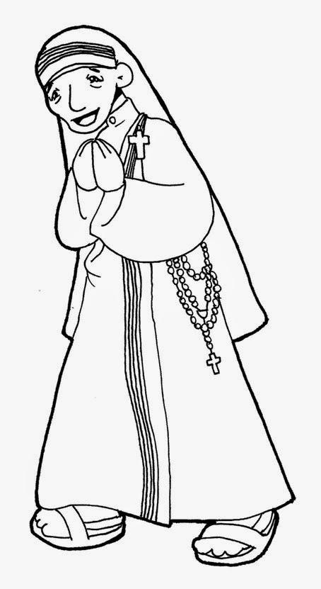 Dibujos para catequesis: SANTA MADRE TERESA DE CALCUTA