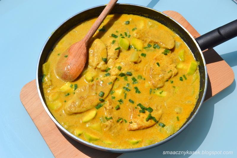 Smaczny Kasek Poledwiczki Z Piersi Kurczaka Curry Z Melonem