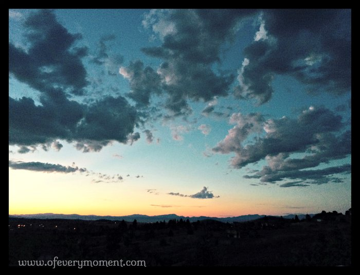 Montana, sunset, storm