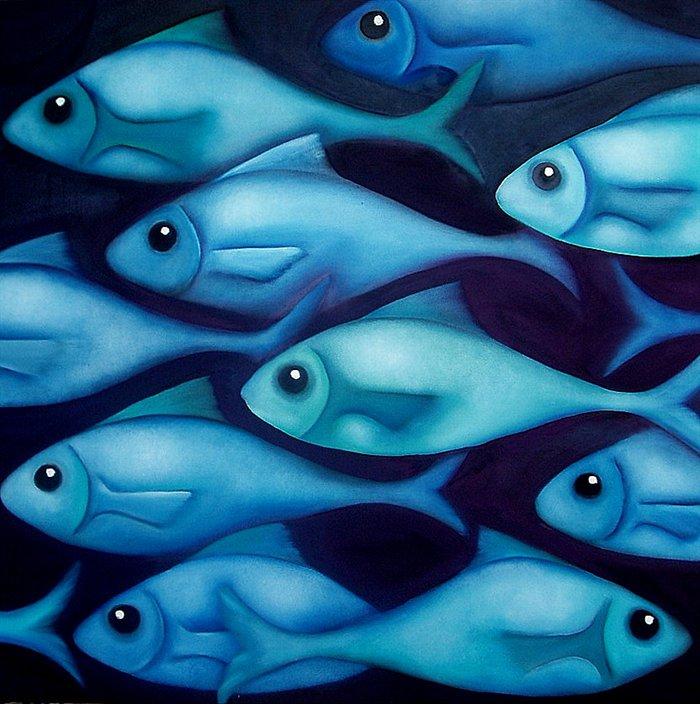 Blue Fish : greene-and-blue-fish.jpg