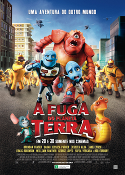 capa A Fuga do Planeta Terra BDRip AVI
