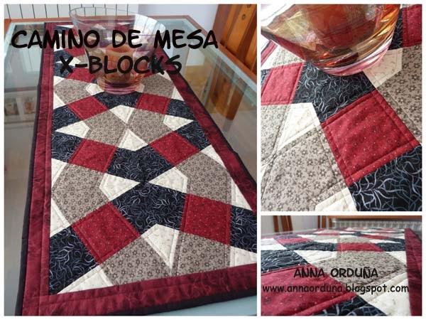 Anna ordu a mi rinc n de patchwork camino de mesa x blocks - Patrones de casas de patchwork gratis ...