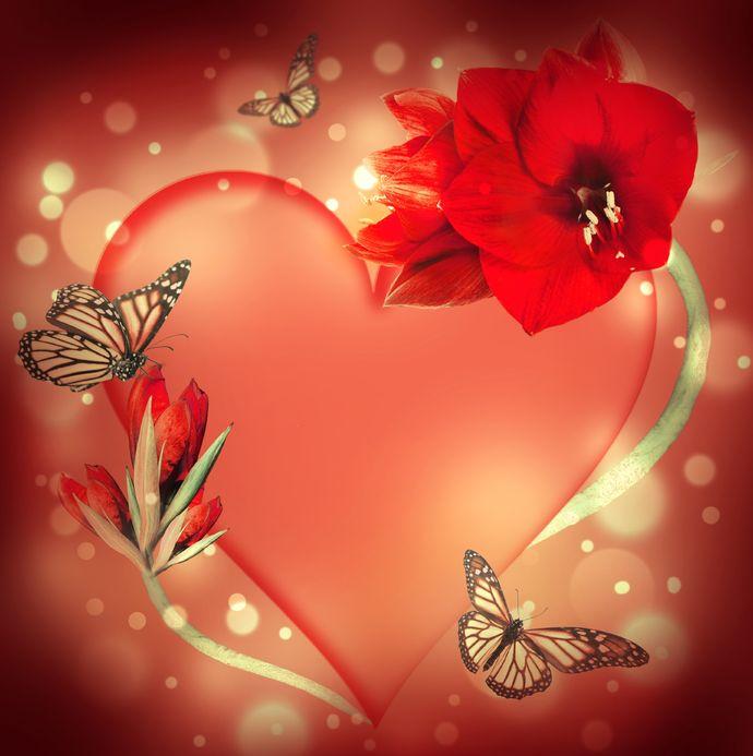 poemas de amor con frases y corazones - descargar imagenes