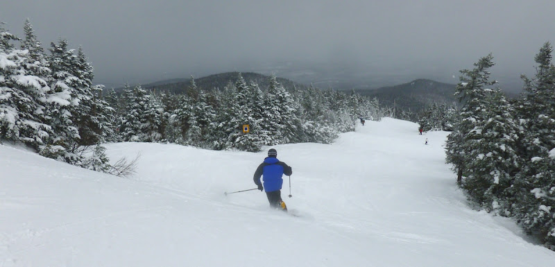 My brother Dave enjoying the nice snow on Cloud, Saturday 03/23/2013 at Gore Mountain.  The Saratoga Skier and Hiker, first-hand accounts of adventures in the Adirondacks and beyond, and Gore Mountain ski blog.