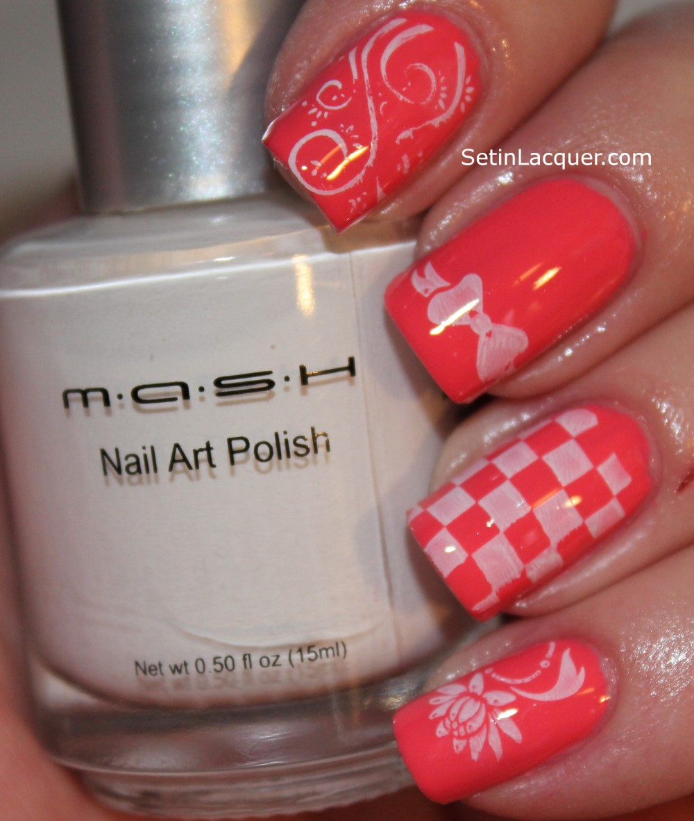 MASH Nails stamping plates and stamper review - Set in Lacquer