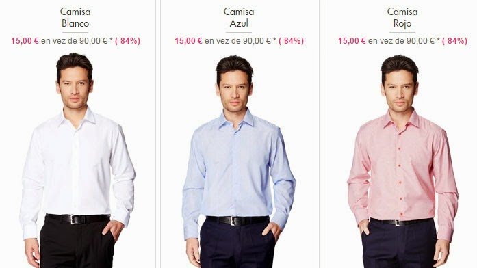 Camisas rayas 15 euros