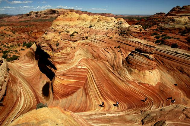 the wave, amazing, batuan merah, kerak bumi, batuan, jenis batuan