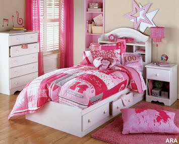 Childrens Bedroom on Home Design  Modern Kids Bedroom For Valentines Day Decoration