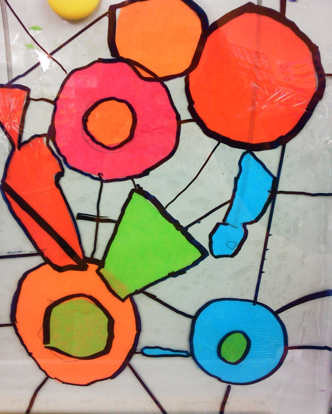 tissue paper stained glass A fun spring craft to make with the kids using tissue paper and black construction paper, this butterfly looks like it's made from stained glass.
