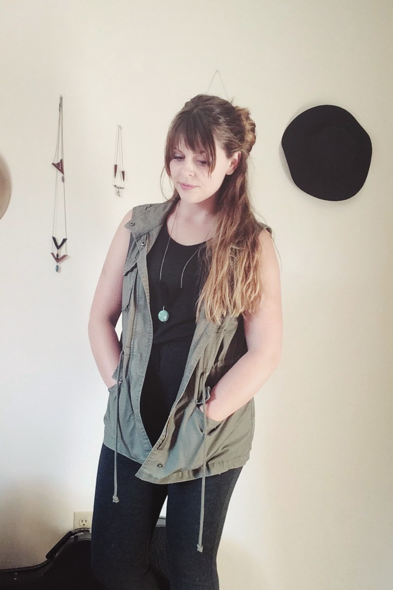 army vest and romper