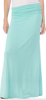 splendid's model lycra long maxi skirt
